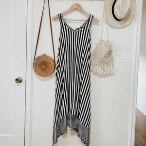 Gap navy white striped sleeveless maxi dress S